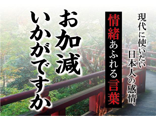 【お加減いかがですか】- 現代に使いたい日本人の感情、情緒あふれる言葉