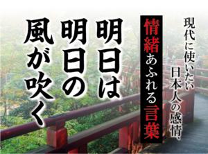 【明日は明日の風が吹く】- 現代に使いたい日本人の感情、情緒あふれる言葉